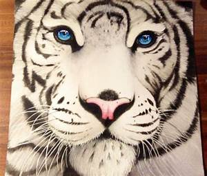 White tiger drawing by Miriam Galassi | No. 324