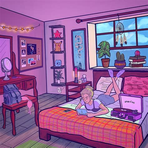 sketches easy in 2020 bedroom drawing girly