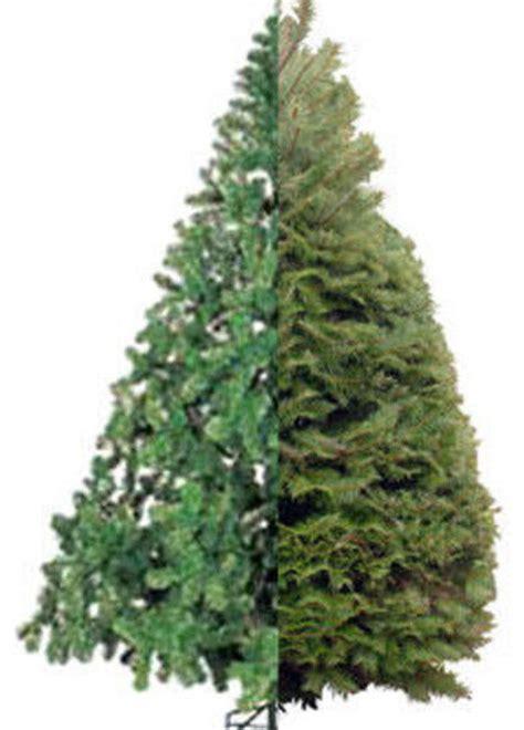 christmas tree real vs artificial
