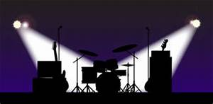 Rock Band Equipment Silhouette Stock Illustration - Image ...
