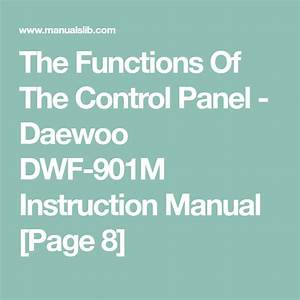 The Functions Of The Control Panel