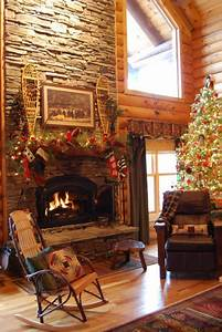 33 cute log cabin christmas decorations for Christmas decorating ideas for log cabins