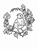 Coloring Christmas Robin Bird Pages Arrangements Floral Robins Drawing Don Draw Getdrawings Again Bar Looking Case sketch template