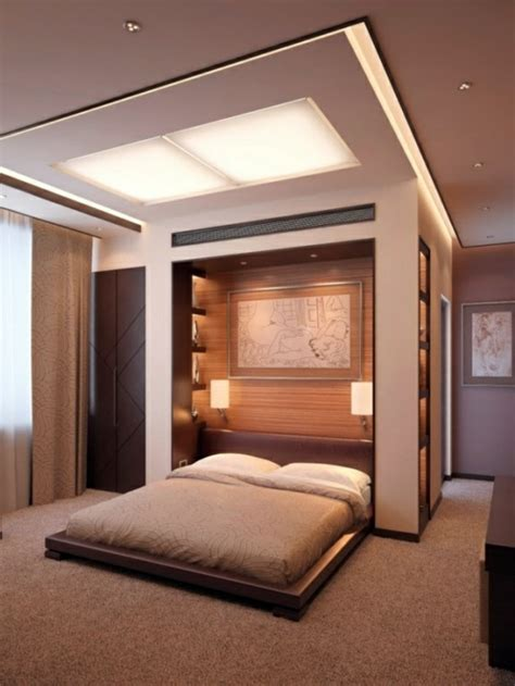 bedroom wall design wall decoration   bed