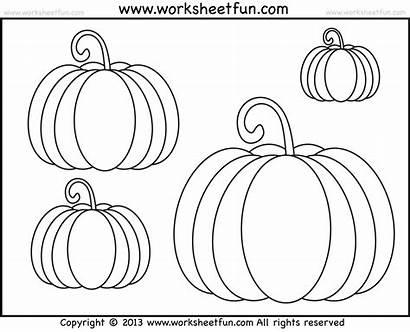 Pumpkin Halloween Worksheets Coloring Printable Preschool Worksheet