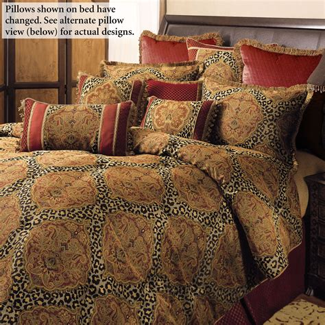 temara damask leopard print comforter bedding