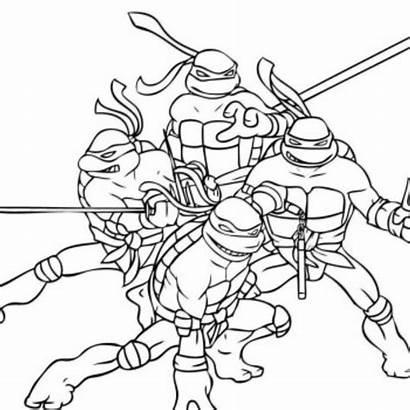 Ninja Coloring Activity Attractive Turtles Mutant Teenage