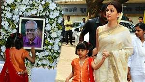 Aishwarya Attend Father's 13th Day Ritual With Abhishek ...