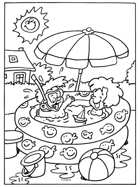 Kleurplaten Een Zwembad by Kleurplaat Kinderen In Het Zwembad Kleurplaten Nl