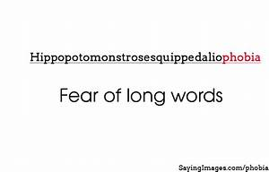 Phobia | SayingImages.com