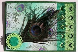 Designs on Craft: Peacock Feather Card