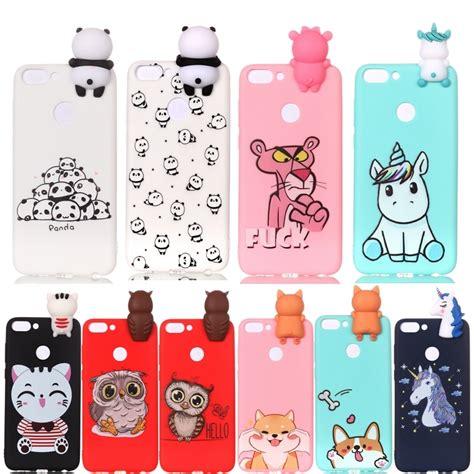 huawei p smart case cartoon  unicorn panda dog silicone
