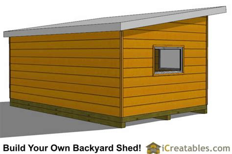 12 X 20 Modern Shed Plans by 12x20 Modern Studio Shed Plans End Door