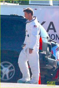 Brad Pitt Sports Space Suit on 'Ad Astra' Movie Set ...