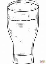 Coloring Beer Glass sketch template