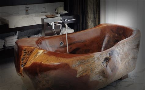 relaxing  unique wooden bathtubs   love