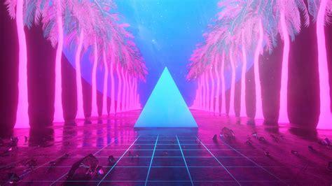 Background Neon Wallpaper 4k by 2560x1440 Miami Trees Triangle Neon Artwork 4k 1440p