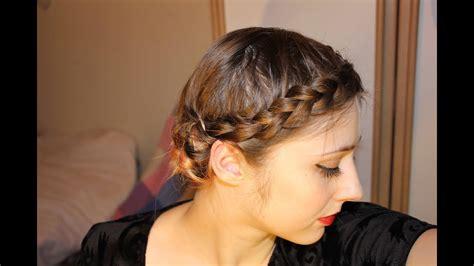 Easy Braided Updo for Short Fine Hair YouTube