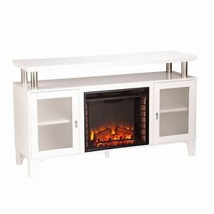southern enterprises cabrini fireplace tv stand in white With home entertainment fireplace living room furniture