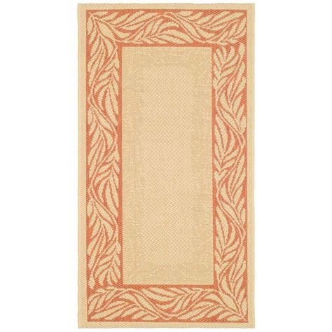 home depot patio rugs safavieh courtyard terracotta 2 ft x 3 ft 7 in