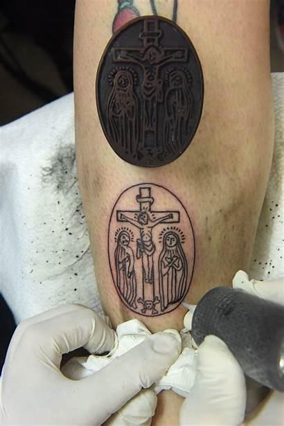 Tattoos Holy Christian Land Leg Mark Jerusalem