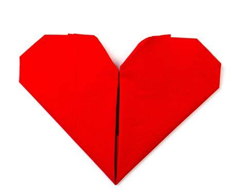 Servietten Falten Herz by Servietten Falten Herz Origami Herz Falten Als