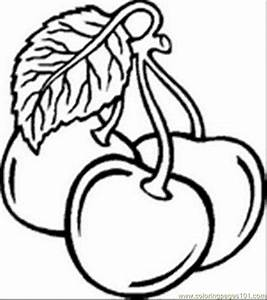 Coloring Pages Fruit02 (Food & Fruits > Cherries) - free ...