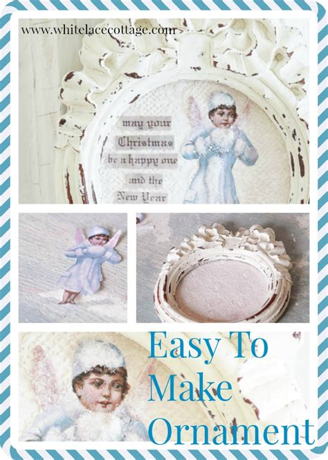Shabby Chic Ornamente by Easy To Make Shabby Ornament White Lace Cottage