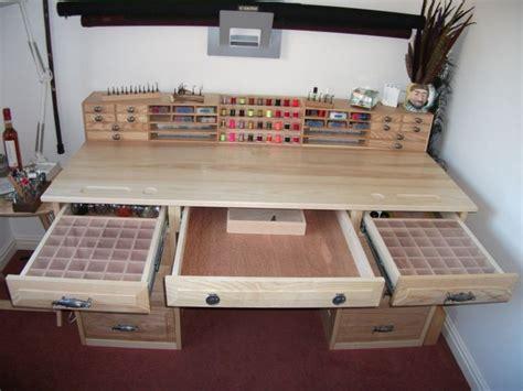 fly tying desk plans make for a great model building desk workshop bench