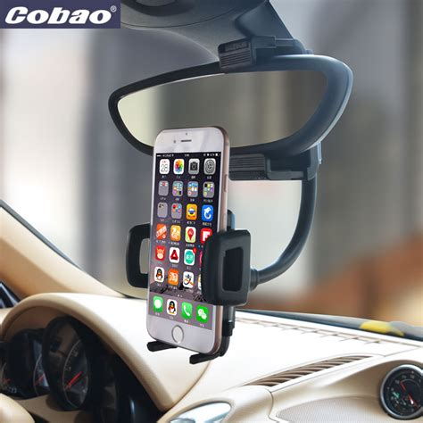 universal rearview mirror car phone holder cobao brand