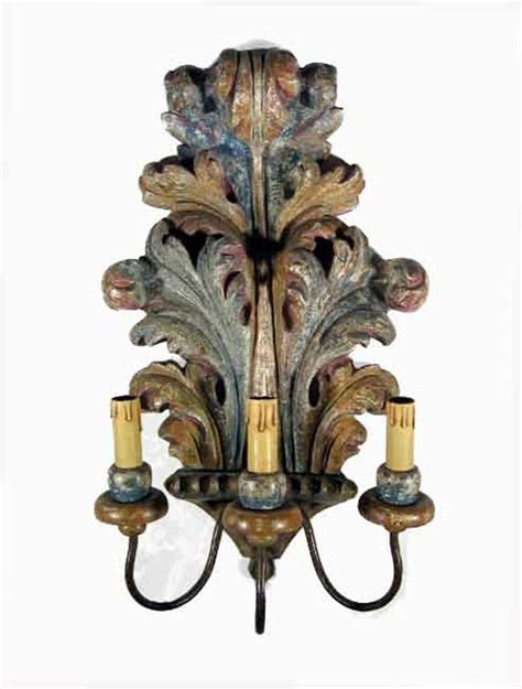applique in legno pair of antique tuscan wall sconces ghilli antiques in