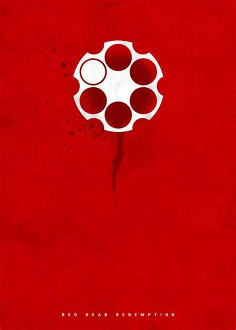 Excessively Minimalist Movie Posters Red Dead Redemption