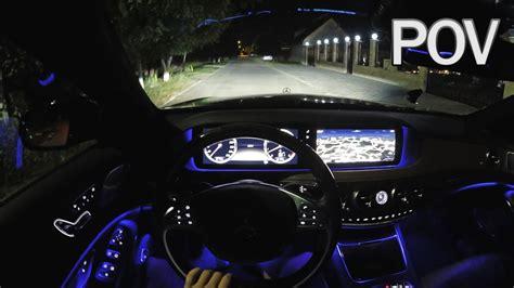 mercedes benz    pov night test drive youtube