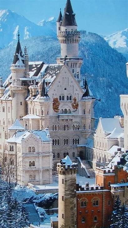 Castle Winter Snow Iphone Germany Neuschwanstein Desktop