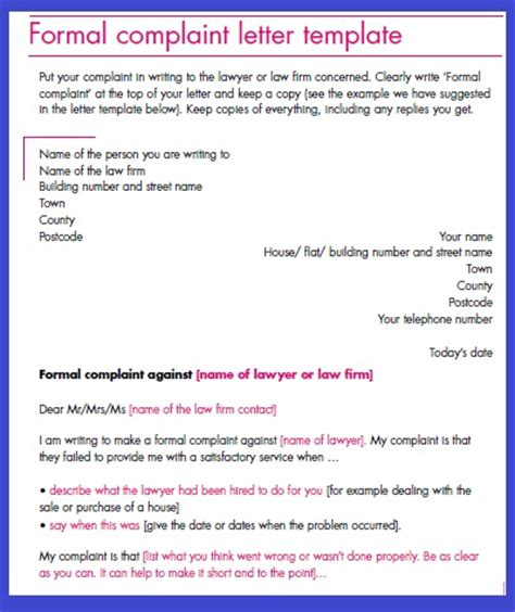 how to write a complaint letter business letter sle november 2012