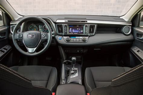toyota rav4 interior 2016 toyota rav4 hybrid test review motor trend