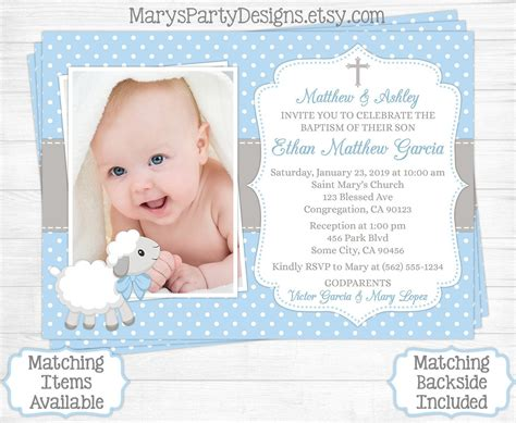 baptism card template baptism invitation template baptismal invitation