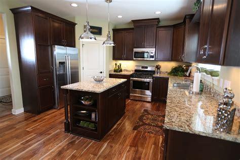 acacia hardwood flooring Kitchen Traditional with acacia