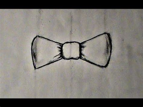 step  step drawing  bow tie youtube