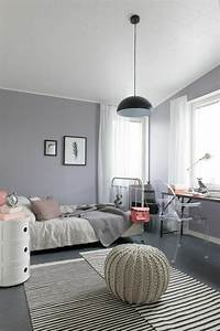 la chambre ado fille 75 idees de decoration archzine With chambre ado rose et gris