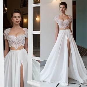 two piece beach wedding dress blomwedding With two piece beach wedding dress