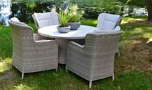 Salon De Jardin Rond : salon de jardin rond en rsine tresse grise 4 places luxe ~ Dailycaller-alerts.com Idées de Décoration