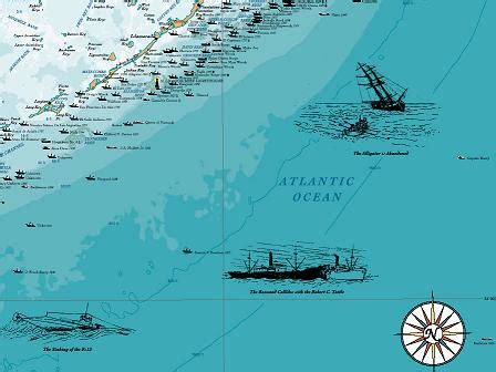 Salvage Boat Key West Florida by Florida Keys Shipwreck Chart Nautical Chart Print Map Ebay