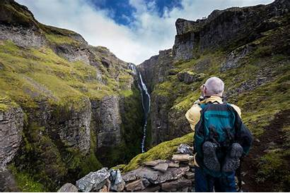 Waterfall Glymur Iceland Hiking Highest Second 2nd