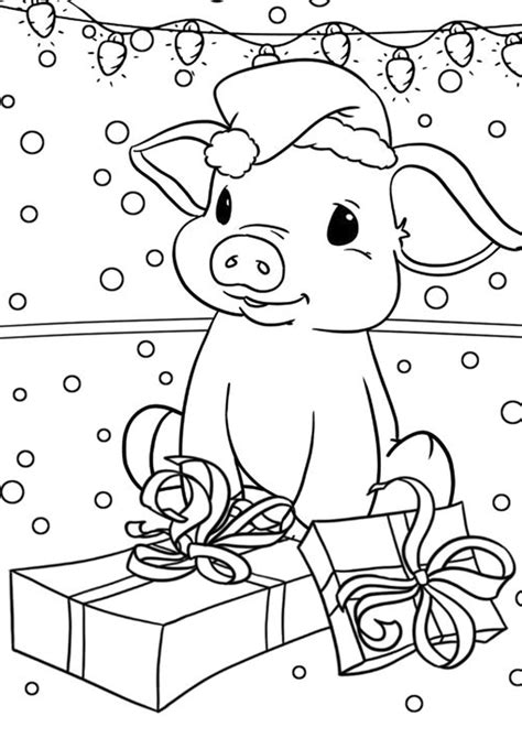 easy  print pig coloring pages tulamama
