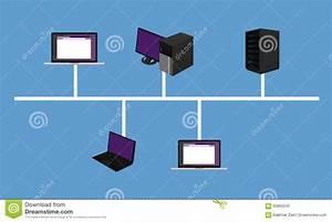 Bus Topology Stock Photo