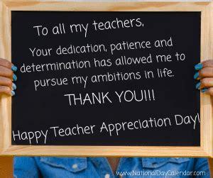 national teacher appreciation day tuesday full week