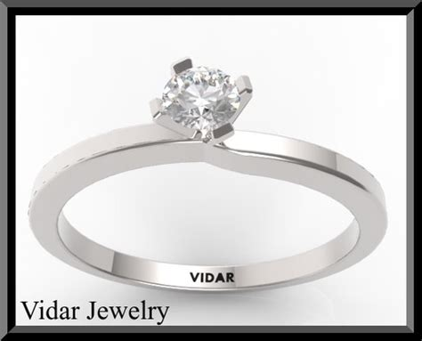 Small Diamond Engagement Ring  Vidar Jewelry  Unique