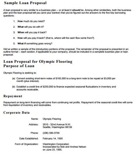 loan proposal templates proposal template