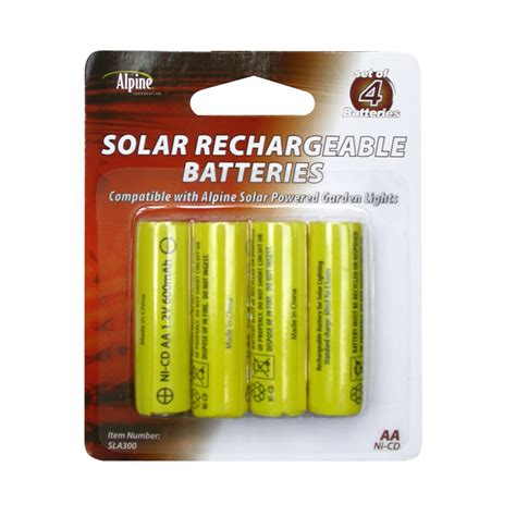solar light batteries alpine replacement solar light battery 4 pack solar